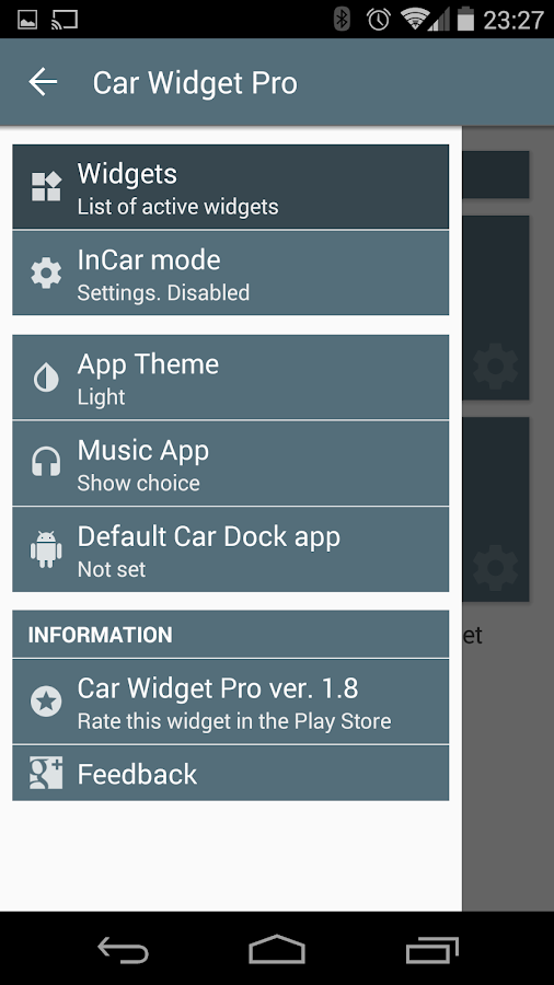 Car Widget Pro - screenshot