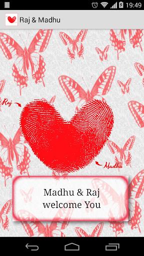 Raj Madhu Wedding Invite