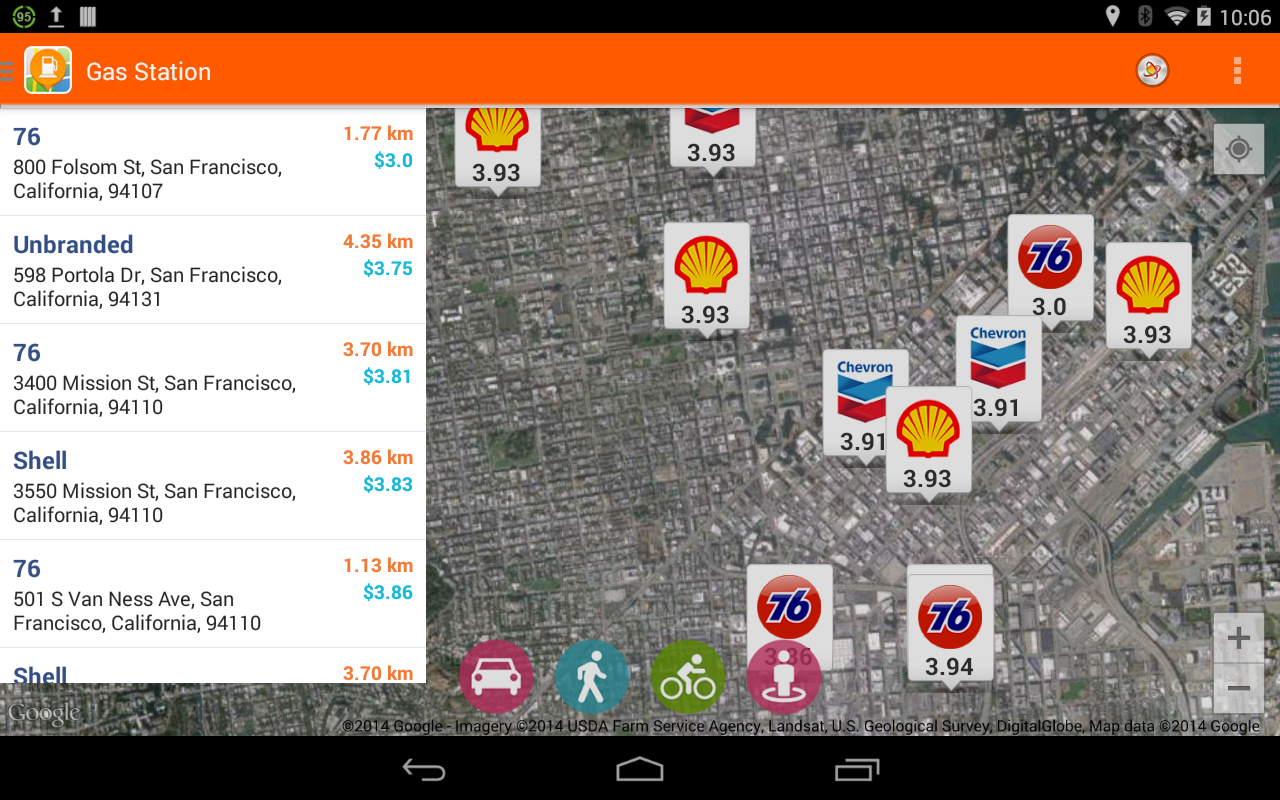 Find cheap gas prices near me screenshot