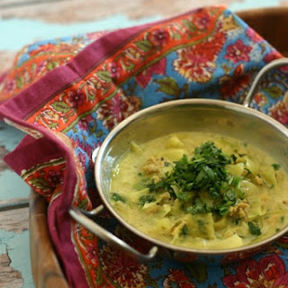 Punjabi Style Chicken Soup with Cabbage