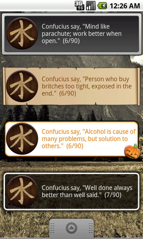 Confucius Say Quote Widget - screenshot