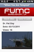 Screenshot of First UMC - Shreveport