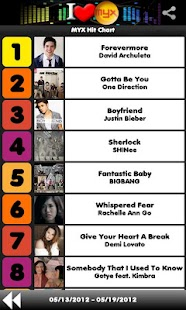 MYX Charts- screenshot thumbnail