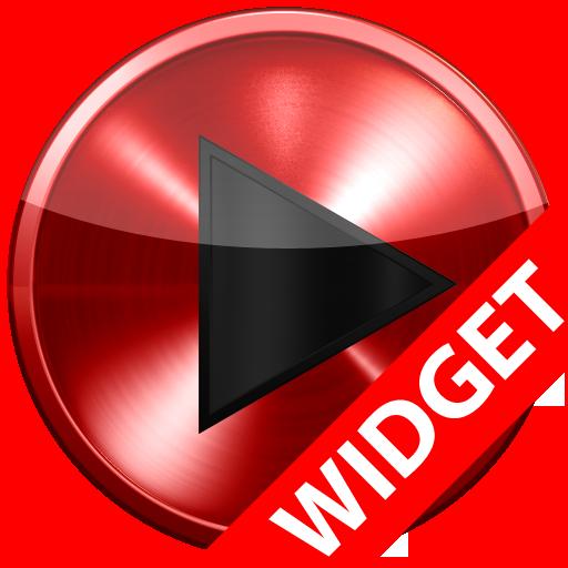 Poweramp skin widget RED METAL