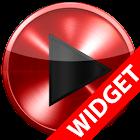 Poweramp skin widget RED METAL icon