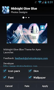 MG Blue Apex Theme - screenshot thumbnail