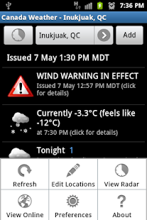Canada Weather & Radar - screenshot thumbnail
