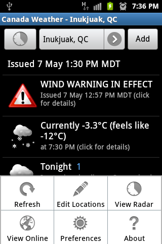 Canada Weather & Radar - screenshot