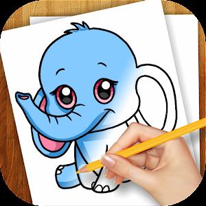 学习绘制卡通动物 家庭片 App LOGO-硬是要APP