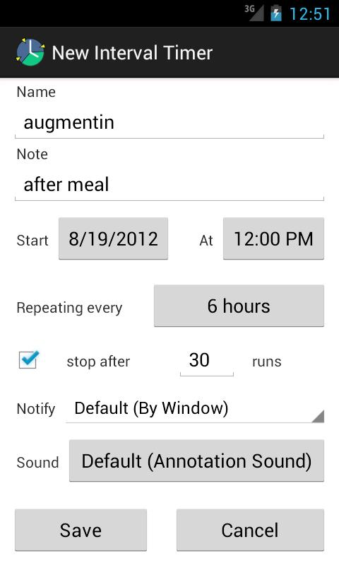 AnyTimer Pill Reminder- screenshot