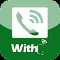 위드콜 – 개인번호, 무료국제전화, 안심번호, 투넘버 logo