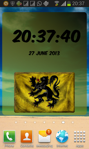 Flemish Region Digital Clock