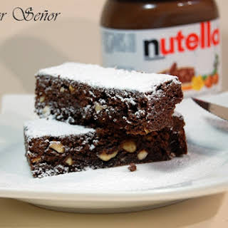 Nutella and Hazelnut Brownies.