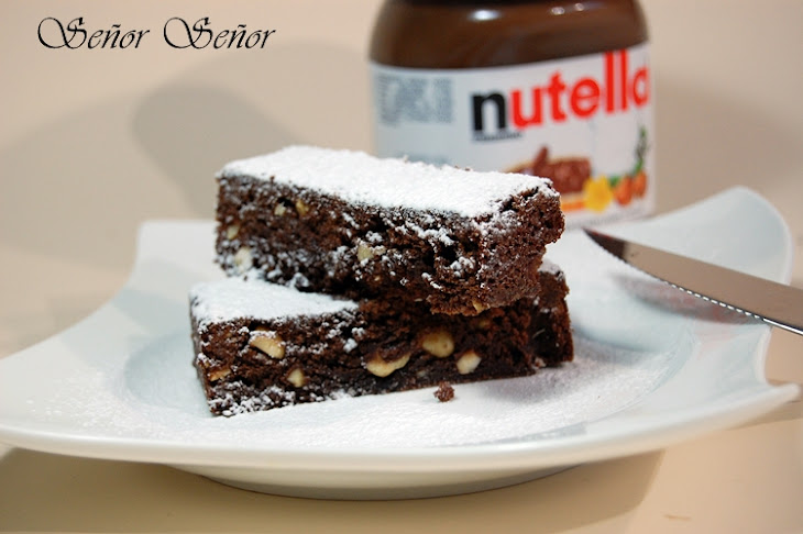 Nutella and Hazelnut Brownies Recipe