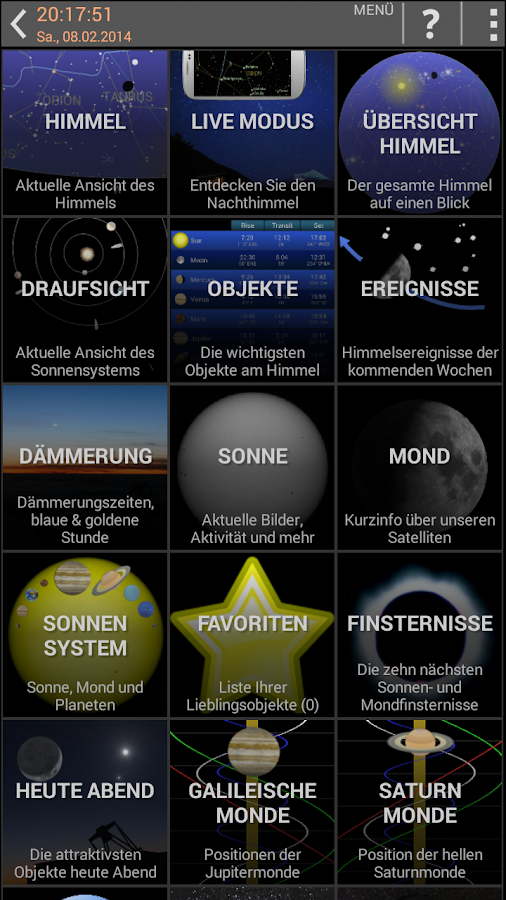 Mobile Observatory -Astronomie – Screenshot
