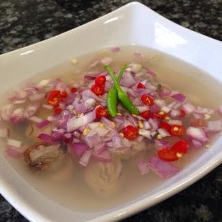 Kinilaw na Talaba…Oyster in Vinegar Chili Dip, My Style.
