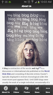 Blogging - screenshot thumbnail