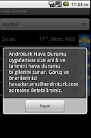 Screenshot of Hava Durumu