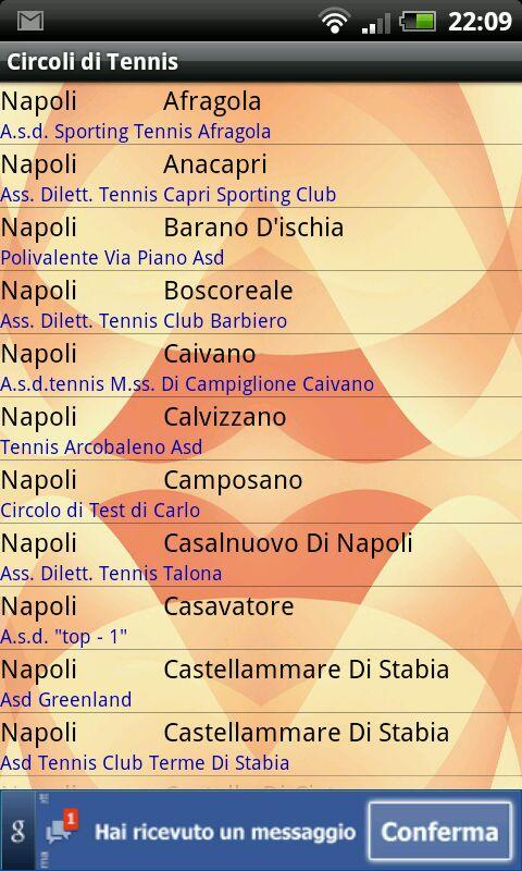Circoli di Tennis- screenshot