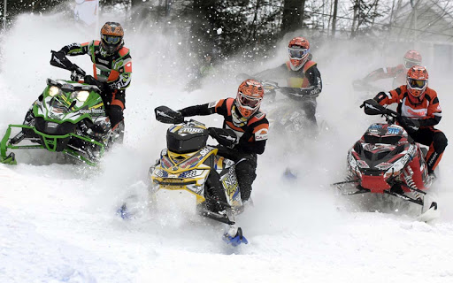 Snowmobile Mountain Racing