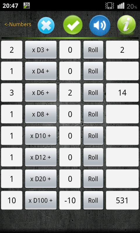 Numbers & Dice Random generate - screenshot