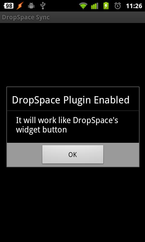DropSpace Plugin For Tasker- screenshot