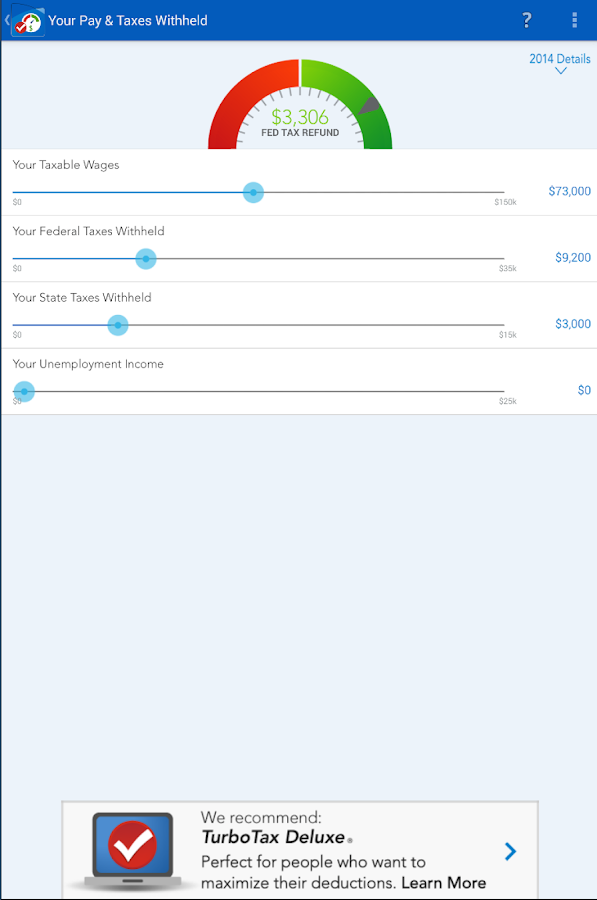 TaxCaster by TurboTax - Free - screenshot