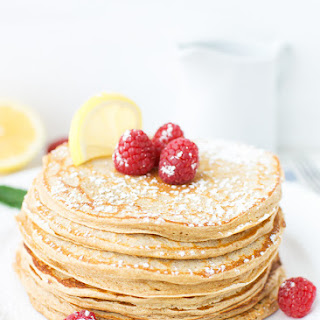 Lemon Curd Whole Wheat Pancakes
