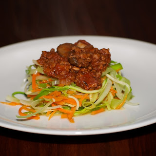Vegetable Spaghetti with Meat Sauce