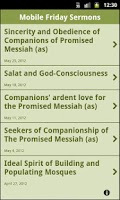 Screenshot of Mobile Friday Sermons
