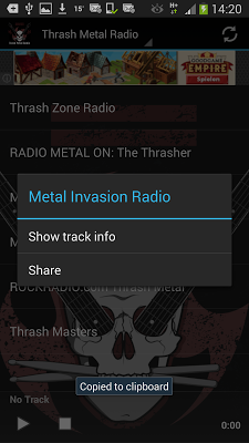 Thrash Metal Radio Stations - screenshot