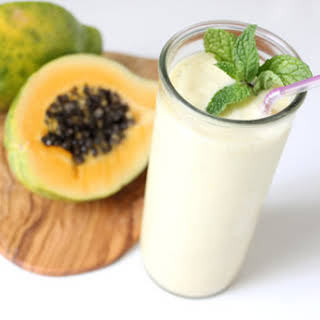 Papaya Ginger Mint Smoothie.