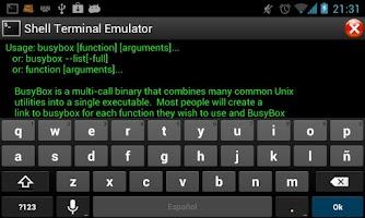 Screenshot of Shell Terminal Emulator