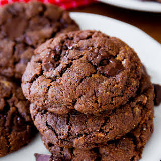 Dark Chocolate Almond Butter Cookies.