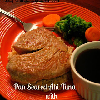 Pan Seared Ahi Tuna with Maple Sriracha Soy Sauce.