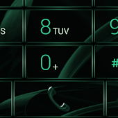 Dialer MetalGate Green theme