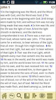 Screenshot of AcroBible Lite, KJV Bible