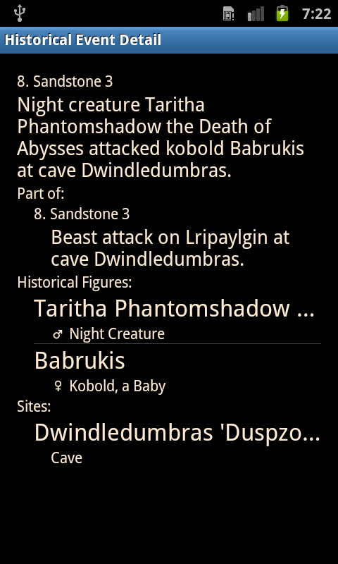 Dwarf Fortress Historian- screenshot