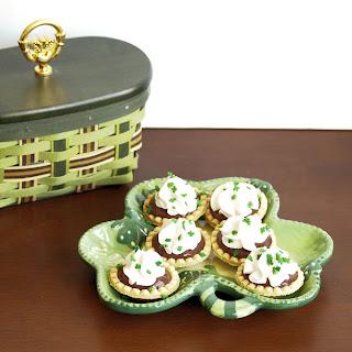 Mini Chocolate Baileys Pudding Tarts
