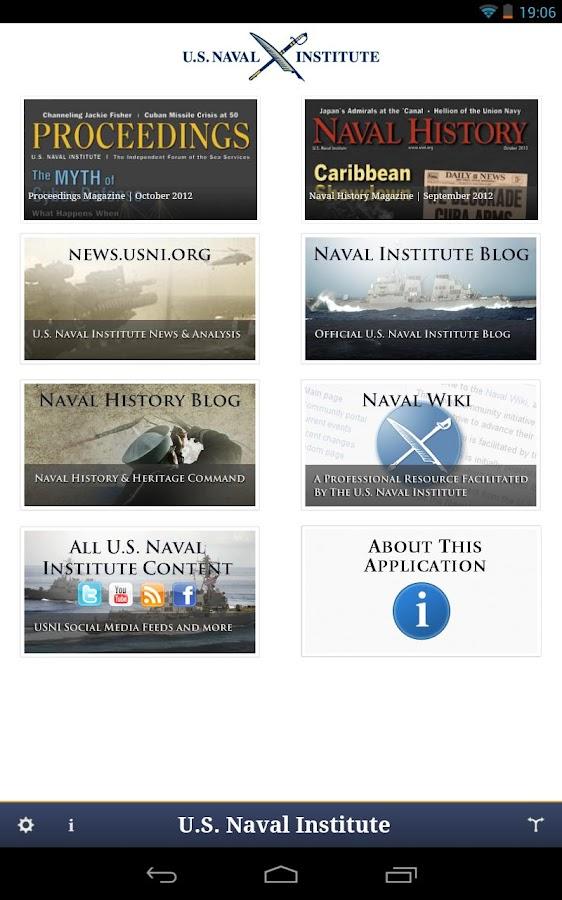 U.S. Naval Institute - screenshot