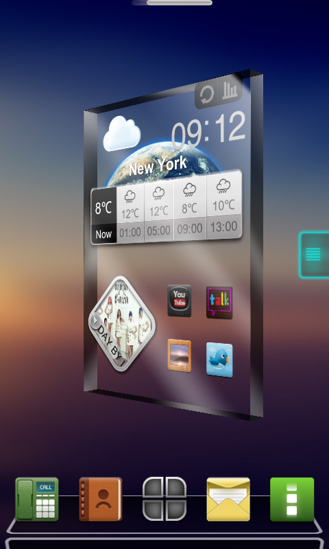 Drock Next Launcher 3D Theme - screenshot