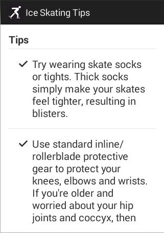 Ice Skating Tips