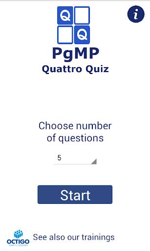 PgMP Quattro Quiz