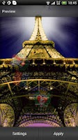 Screenshot of Eiffel Tower Live Wallpaper