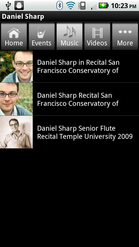 Daniel Sharp *flute/piccolo - screenshot