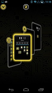 PCB Yellow HD TSF Shell Theme - screenshot thumbnail