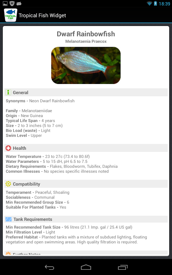 Tropical Fish Widget- screenshot