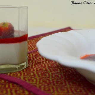 Panna Cotta with Strawberry Coulis
