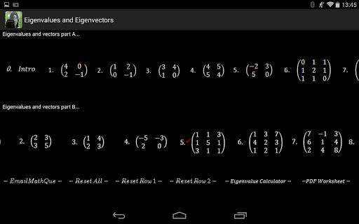 Linear Algebra Live Worksheet
