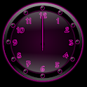 Sleek Ebony Pink Clock Widget icon